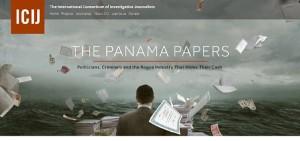 ICIJの「パナマ文書」ホームページより