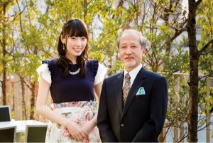 松井咲子とセントラル短資FX代表取締役・松田邦夫氏