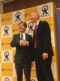 松本大氏とイェスパー・コール氏