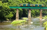 全線約140kmという長大な路線ながら、特急や急行が走っていない水郡線