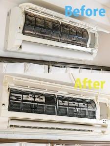 エアコンは外部フィルターを外して洗うだけでもOK