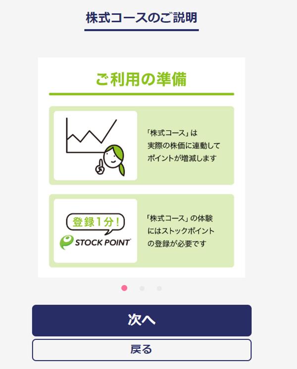 セゾンポイント投資 株式コース説明ページ