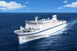 1月25日に就航する太平洋フェリーの新造船「ニューきたかみ」