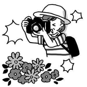 フォトマスター検定では写真の撮り方も学べる(イラスト:池田奈鳳子)