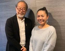 鎌田實医師(左)と斉藤瞳さん