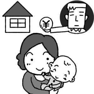 養育費の代わりに夫に住宅ローンを返済してもらう選択肢は?(イラスト:岩井勝之)