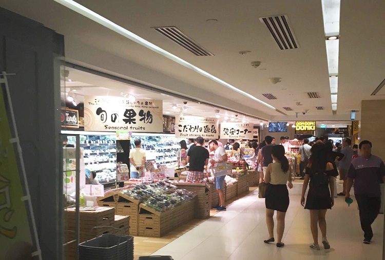 ショッピングモールでは、日本食の取り扱いも多い(写真提供:Aさん)