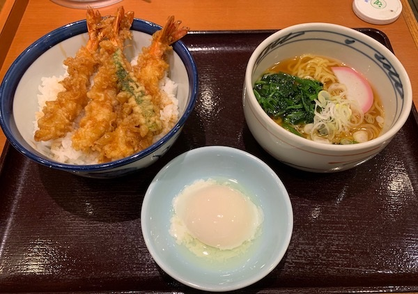 てんや『海老大江戸天丼と小ラーメンセット』