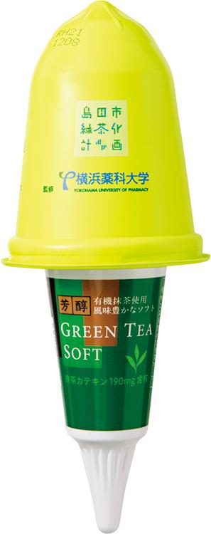 横浜薬科大学が監修、緑茶カテキンが含まれたアイス「芳醇 GREEN TEA SOFT」(ウエルシア薬局)