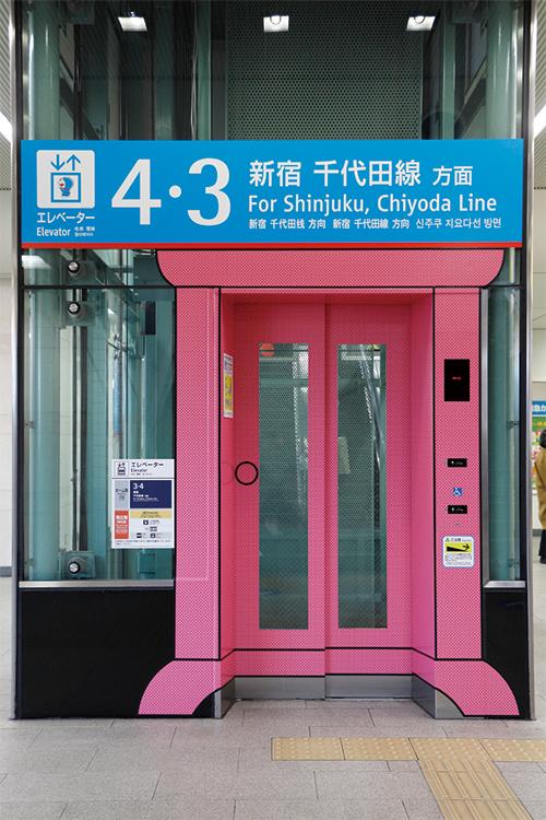 エレベーターの入り口も『どこでもドア』に!