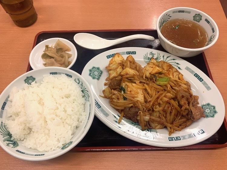 日高屋の「バクダン炒め定食」