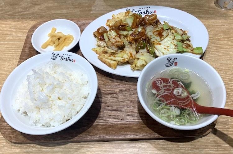 れんげ食堂の「ホイコール定食」