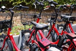 都市部を中心に普及が進んでいるシェアサイクル