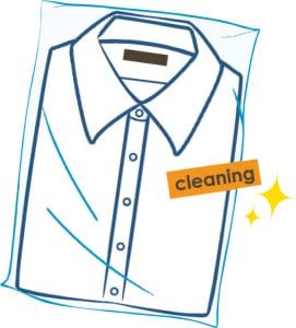 ワイシャツのクリーニング代は年間3万6000円に