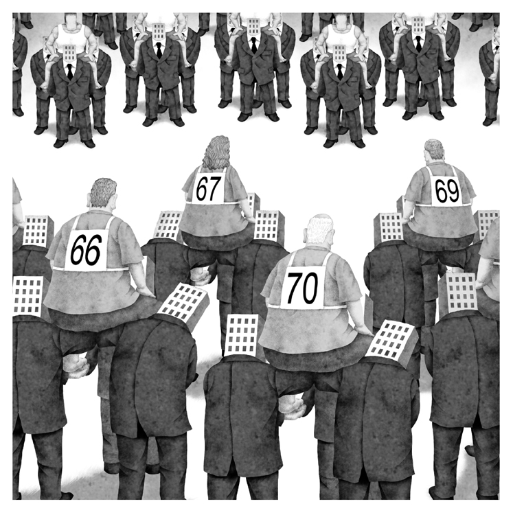 「70歳雇用義務付け」が日本企業を衰退させるカラクリとは(イラスト/井川泰年)