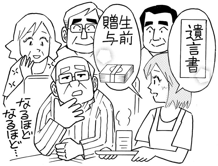 義父母の存命中に話し合っておくことも重要(イラスト/黒木督之)