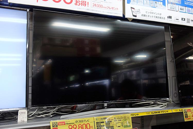 55型4Kテレビ『55U7E』が10万円台