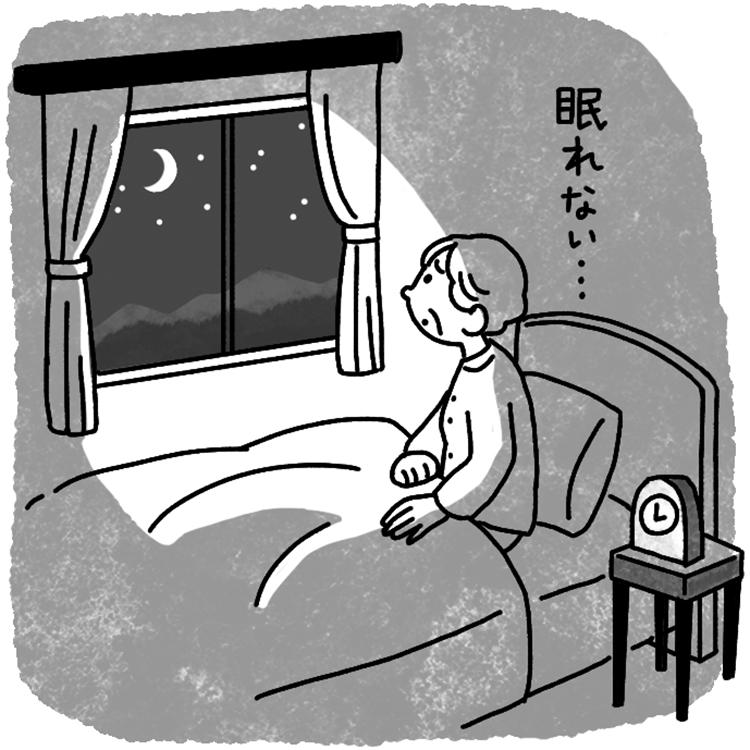 傾眠の原因はさまざま。昼夜逆転や認知症が原因のことも(イラスト/鈴木みゆき)