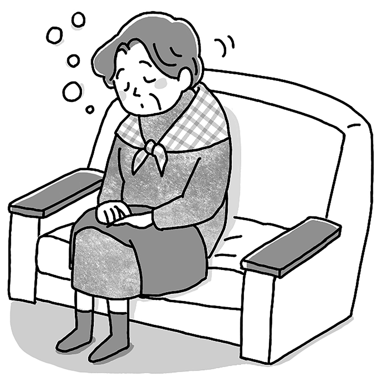 傾眠には病気が隠れている場合も(イラスト/鈴木みゆき)