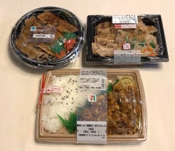 大手コンビニ3社の「豚焼肉」系メニュー