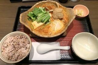 大戸屋の『すけそう鱈とあさりのコク辛チゲ鍋定食』