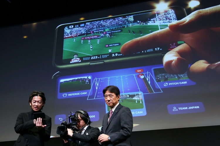 ラグビーW杯でも披露された5G技術(写真:時事通信フォト)