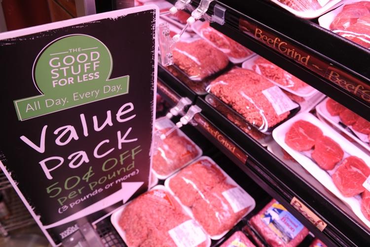 アメリカのスーパーには「ホルモンフリー」牛肉が並ぶ(Getty Images)