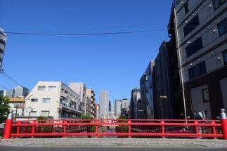駅名の由来となっている「中野新橋」