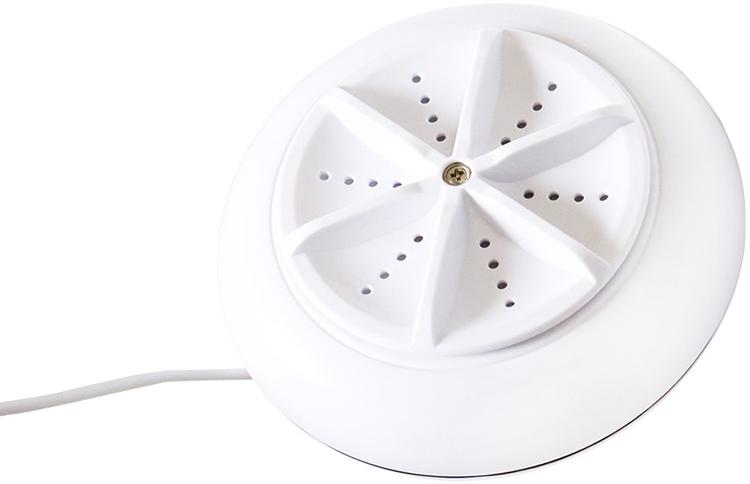 USB電源で作動し、1kgまでの洗濯物に対応