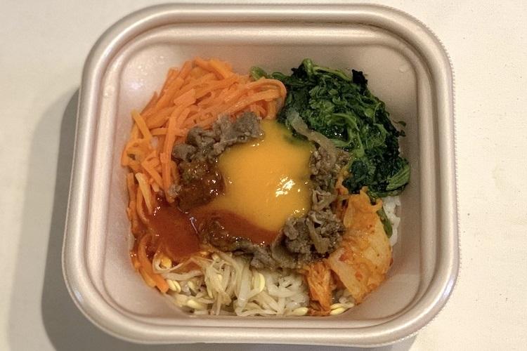 ローソン『1食分の野菜が摂れる!牛肉の旨辛ビビンパ』