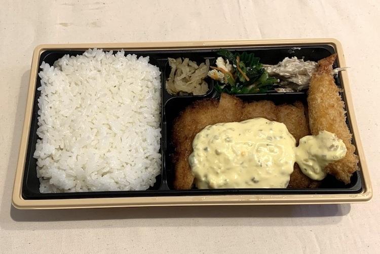 やよい軒の『チキン南蛮とエビフライの弁当』