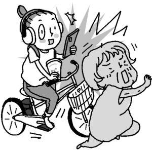 """""""ながら運転""""が重大事故を招いた例は多い(イラスト/尾代ゆうこ)"""