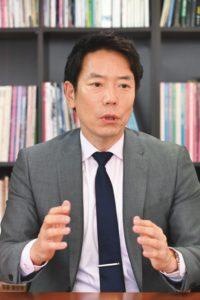 『月刊現代印章』編集長・真子茂氏(撮影/太田真三)