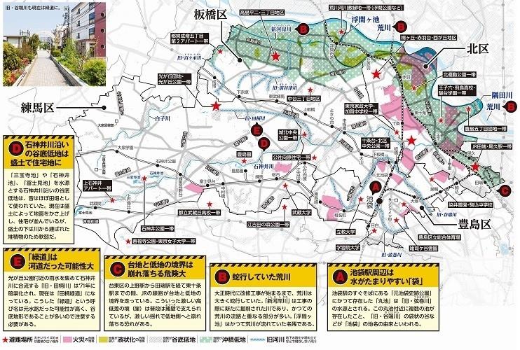 北区・板橋区・豊島区・練馬区のハザードマップ