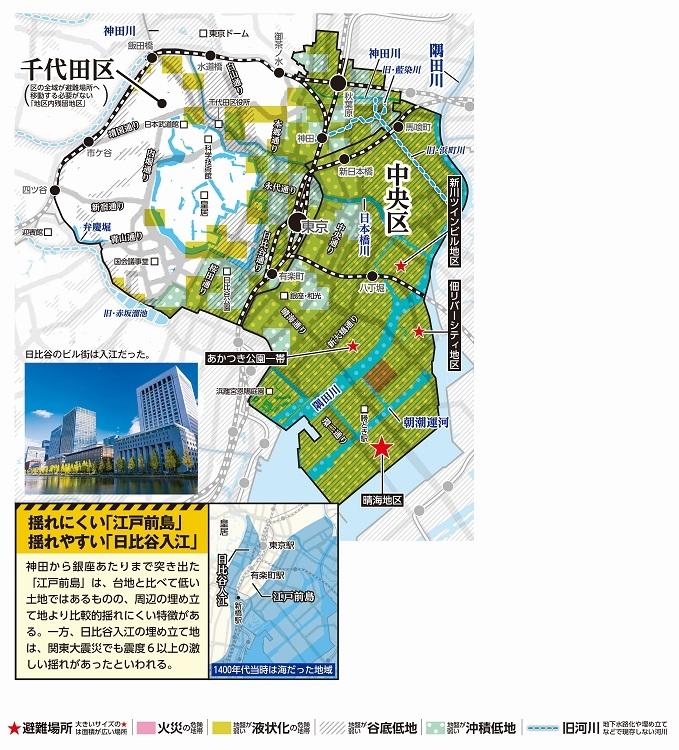 千代田区・中央区のハザードマップ