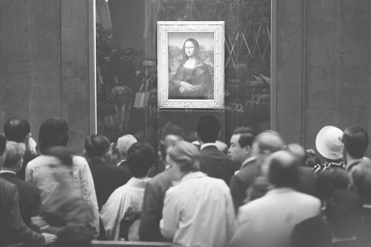 1974年に東京国立博物館で開催された「モナ・リザ展」(時事通信フォト)