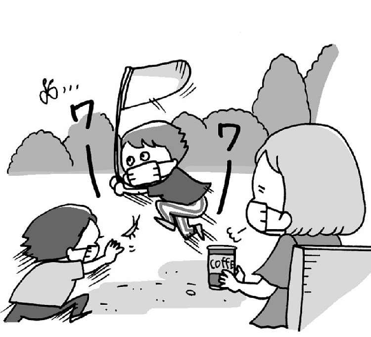 シッター以外の育児サポート方法にも注目(イラスト/ユキミ)