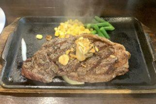 いきなり!ステーキ『CABアンガス牛サーロインステーキ』200g 1500円(税別)