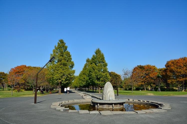 23区内とは思えぬ広大な光景が広がる舎人公園
