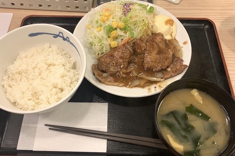 松屋『豚肩ロースの生姜焼定食』