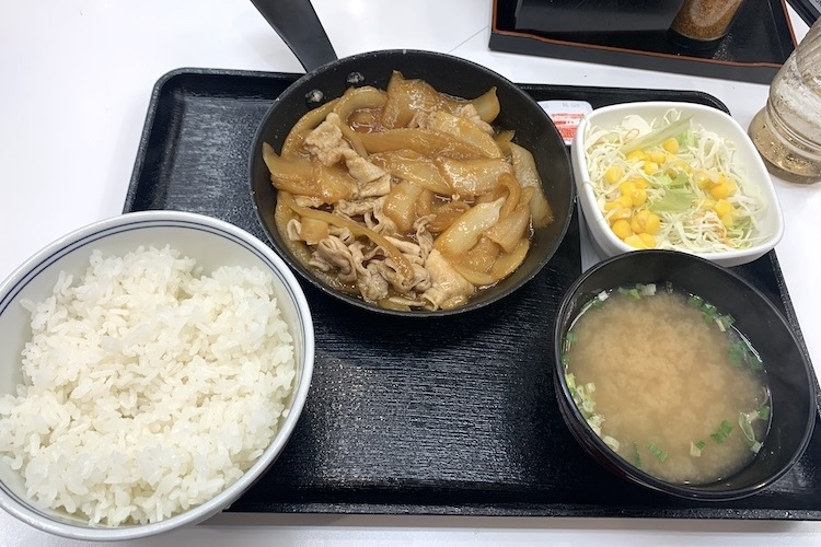 吉野家『豚生姜焼き定食』