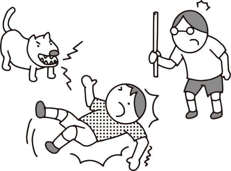 飼い犬が関わったトラブルではあるが…(イラスト/大野文彰)