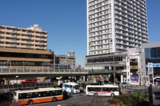 駅からのバス路線も充実している(上尾駅の駅前)