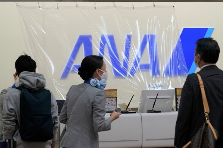 ANAではボーナスに加え人件費削減も着手(AFP=時事)