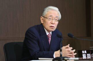 全国の放送インフラを握って民放の8K番組もNHKで放送する目論見か(NHK前田晃伸会長、時事通信フォト)