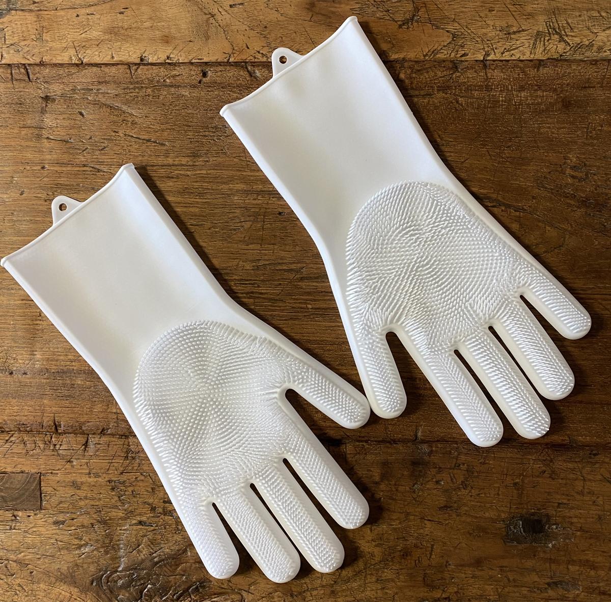 「シリコーンブラシ手袋」