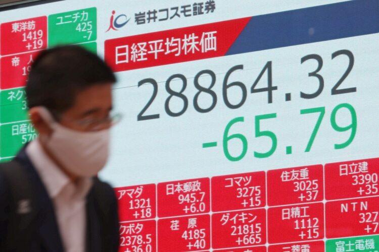 日経平均株価は2万9000円を割って以降、3万円台を回復していない(写真/3月5日、時事通信フォト)