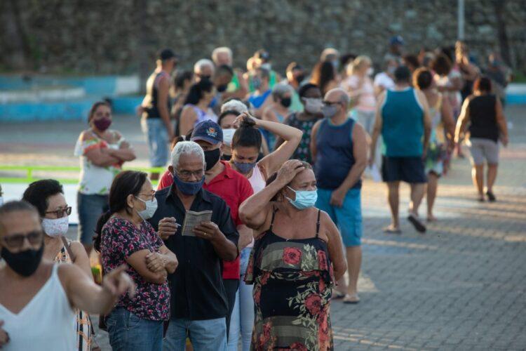 新興国ではコロナ禍で経済が低迷する中でインフレが進行している(ブラジル・リオデジャネイロ。Getty Images)