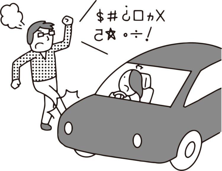 ドライブレコーダーに映像は残っているが…(イラスト/大野文彰)
