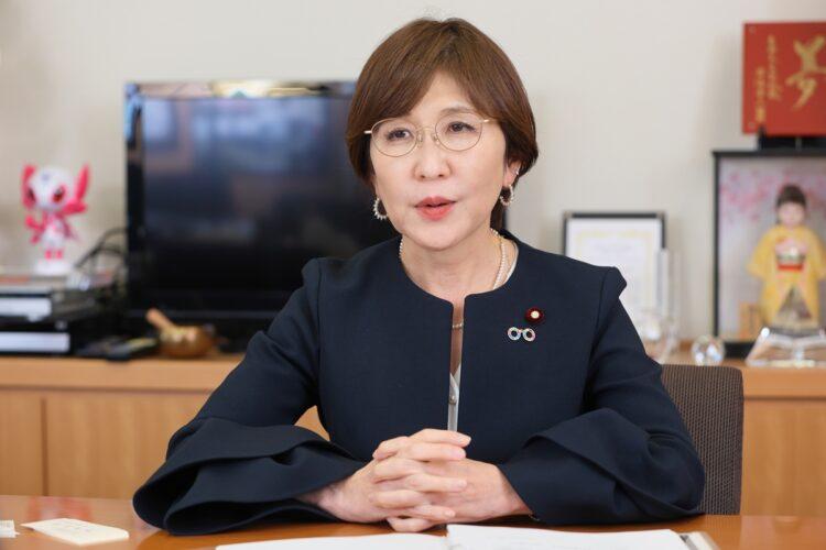 稲田朋美議員は女性の政治参画状況に危機感を抱いている(撮影/平野哲郎)